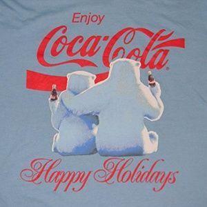 Coca-Cola Polar Bear Christmas T-Shirt, Coke, NEW